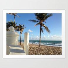 On the Water Ft Lauderdale Beach Art Print