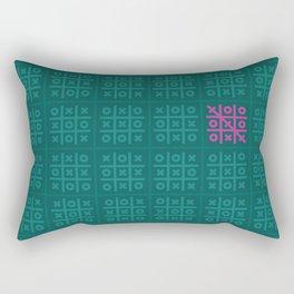 Tic Tac Toe Pattern Rectangular Pillow