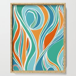 Campfire Abstract Serving Tray