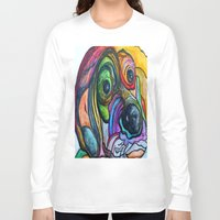 the hound Long Sleeve T-shirts featuring Hound Dog by EloiseArt
