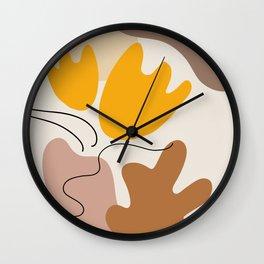 Organic Forms Botanical Still-Life Wall Clock