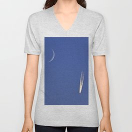 Jet and the Moon Unisex V-Neck