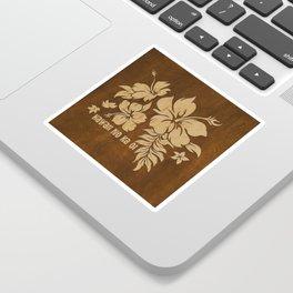 Hibiscus Pareau Hawaiian Floral Aloha Shirt Print Sticker