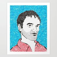 tarantino Art Prints featuring Quentin Tarantino by TSV89