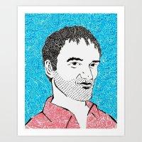 quentin tarantino Art Prints featuring Quentin Tarantino by TSV89
