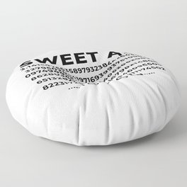 Sweet As Pi Numbers Aesthetic Floor Pillow