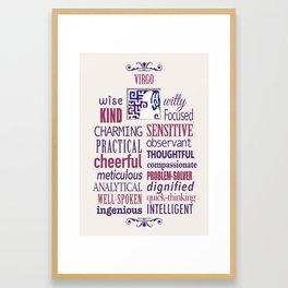 The Zodiac: Virgo Framed Art Print