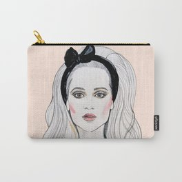 Fashion Illustration Peach Carry-All Pouch