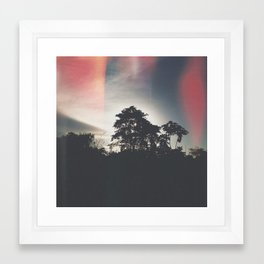 Dark sunset Framed Art Print