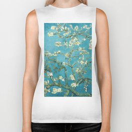 Almond Blossoms by Vincent van Gogh Biker Tank