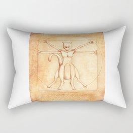 Vitruvian Mewtwo Rectangular Pillow