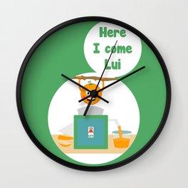 Here I come Lui Wall Clock