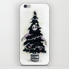 Black Xmas Tree iPhone & iPod Skin
