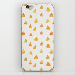 Geometrical orange yellow watercolor hand painted triangles iPhone Skin