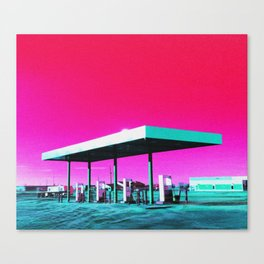Gas Station Oasis Canvas Print
