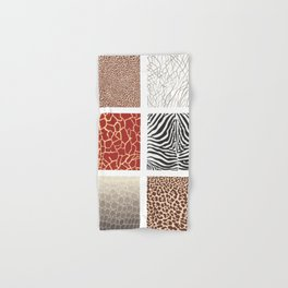 Africa - background with text and texture wild animal Hand & Bath Towel