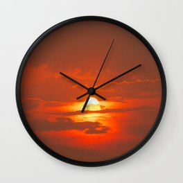 Sunset in Canada Wall Clock