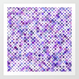 Purple Squared Art Print