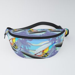 Windsurfer on Ocean Waves Fanny Pack
