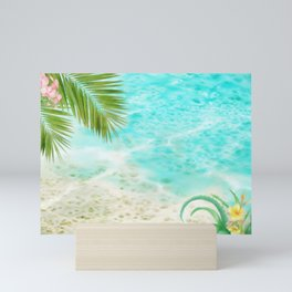Tropical Beach Mini Art Print