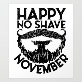 Beard November Art Print