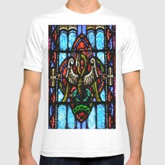 Rising From Glass White MEDIUM Mens Fitted Tee