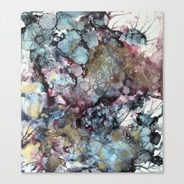 Teal & Gold Abstract Canvas Print