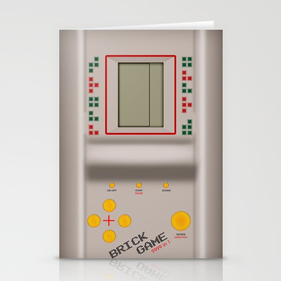 brick game Stationery Cards