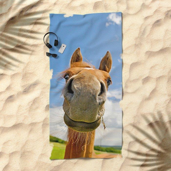 Keep smiling Beach Towel