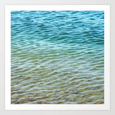 Ombre Sea Art Print