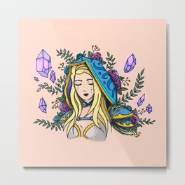 Maiden of Ice Metal Print