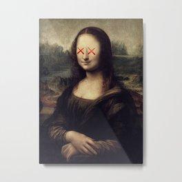 Mona Lisa x Kaws Collab Pop Art Metal Print