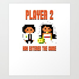 Player 2 Has Entered the Game Wedding Gamer Art Print