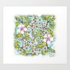 Flowers 'n Rain. Art Print