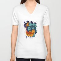 koi fish V-neck T-shirts featuring Koi Fish by Spooky Dooky