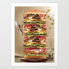Hamburger Tower Art Print