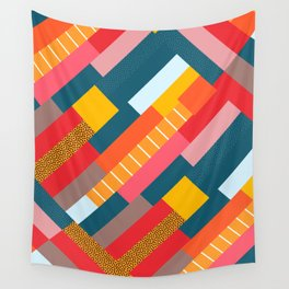 Colorful blocks Wall Tapestry