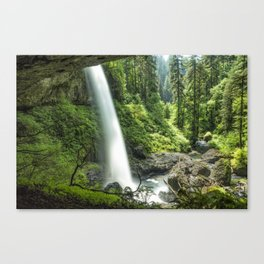 Looking Out From Under North Falls Canvas Print