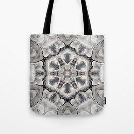 Black and White Neutral Kaleidoscope Art Print Tote Bag