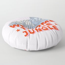 welcome to the jungle - retro tiger Floor Pillow