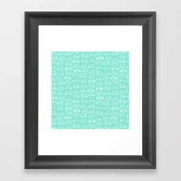 Bicycle Pattern Aqua Framed Art Print