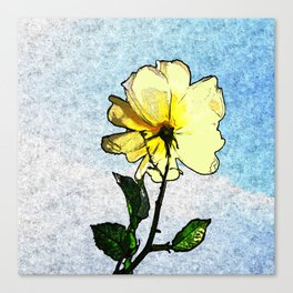 Yellow rose in the sky Canvas Print