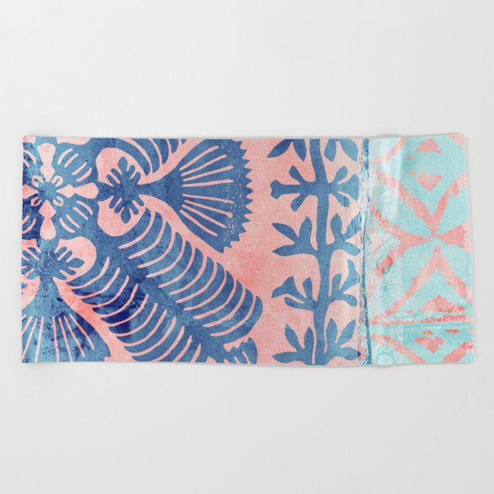 Maui Square 01 Beach Towel
