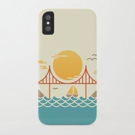 San Francisco Golden Gate Bridge Illustration iPhone Case