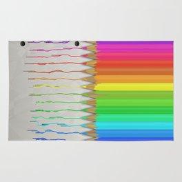 Melting Rainbow Pencils Rug