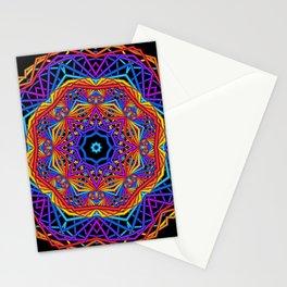 symmetry on black -01- Stationery Cards