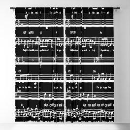 Music sheet Blackout Curtain
