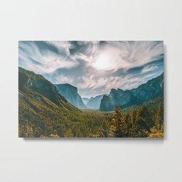 Tunnel View at Yosemite (USA) Metal Print