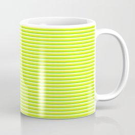Banana and Lime Yellow and Green Stripes Coffee Mug