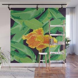 Yellow tropical flower Wall Mural